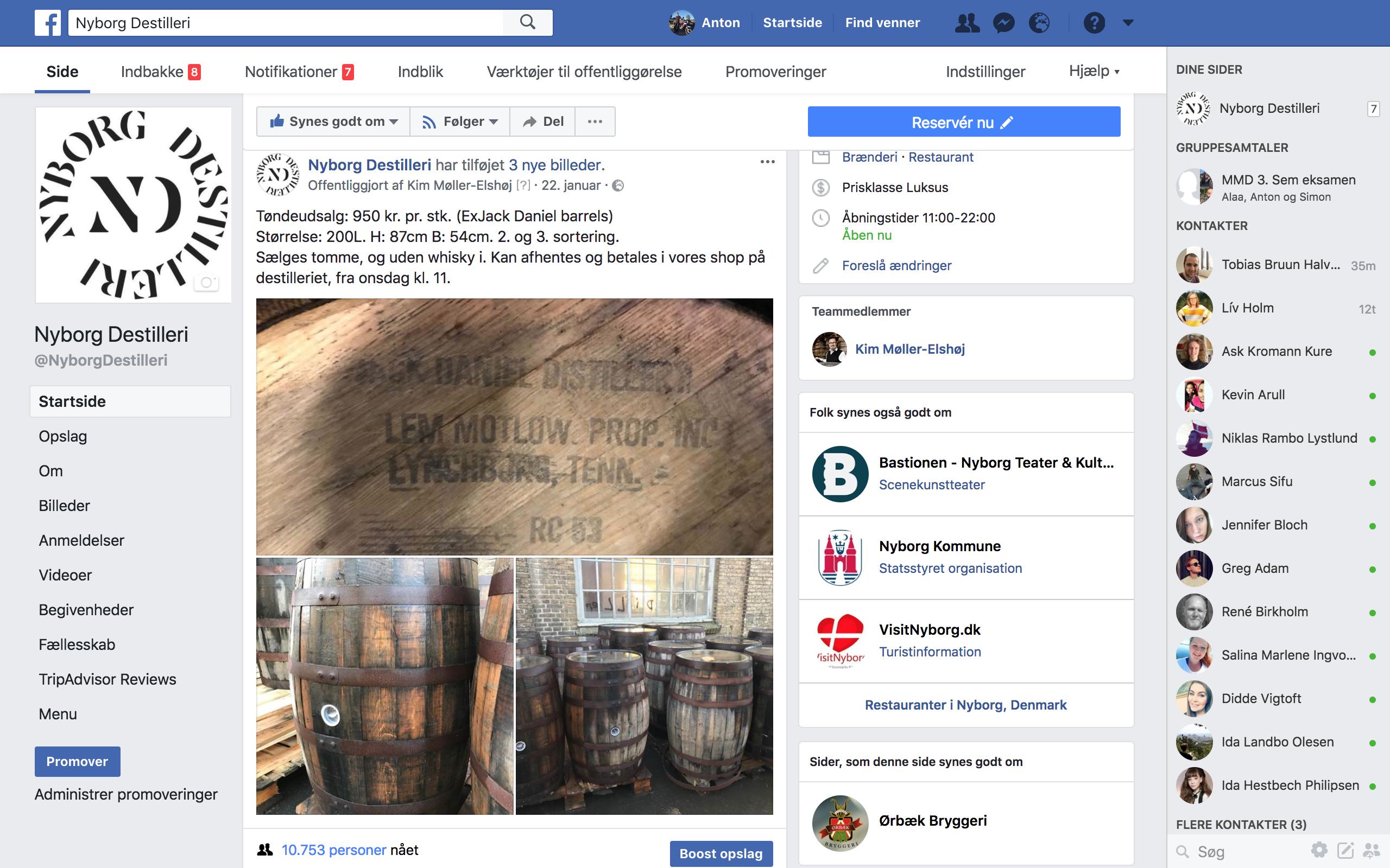 2 Salgskampagne for Nyborg Destilleri på guloggratis, dba og facebook