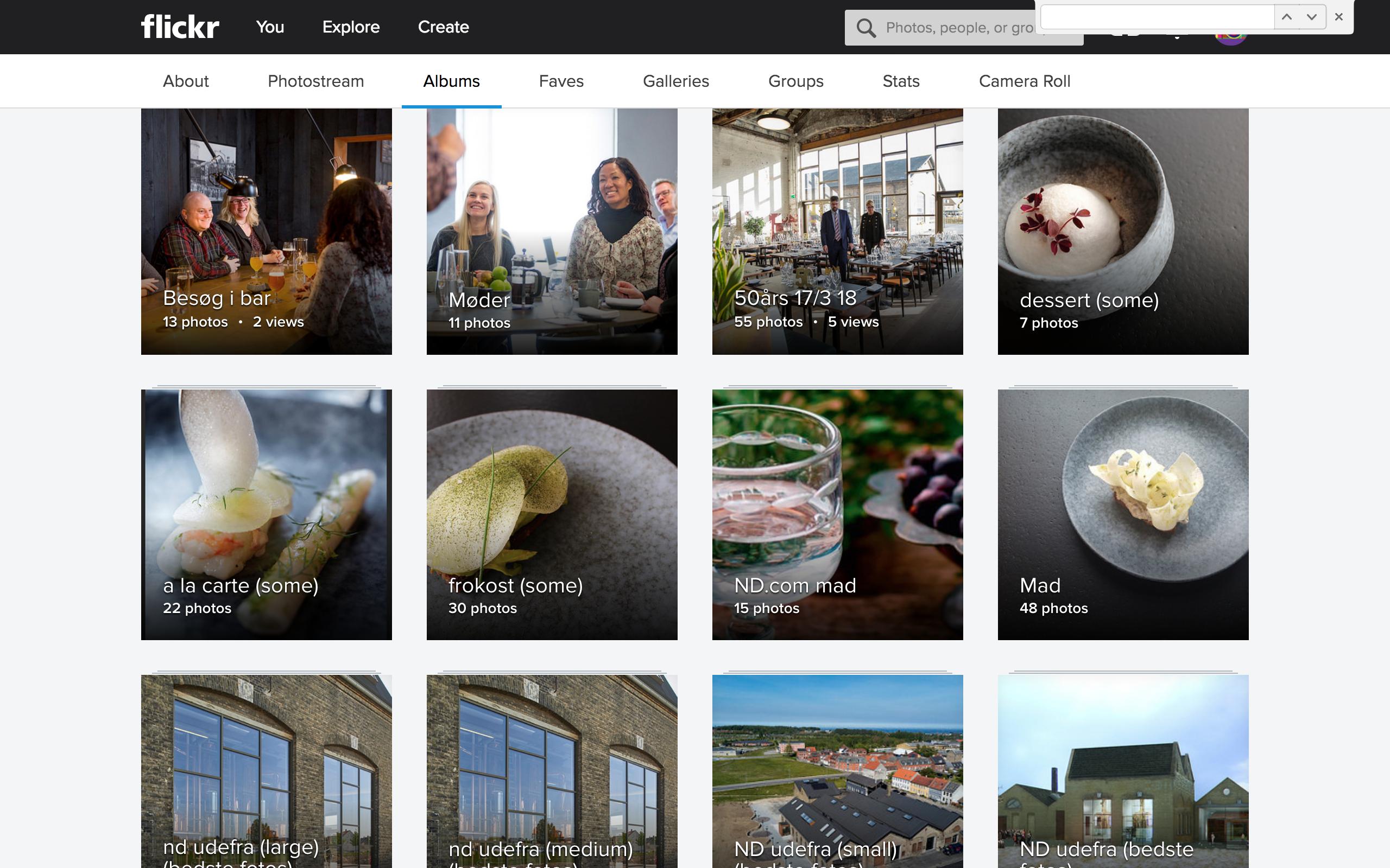 1 Opsætning og design af Flickr album til Nyborg Destilleri (Design)